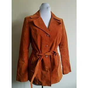 FRENCHI suede trench coat